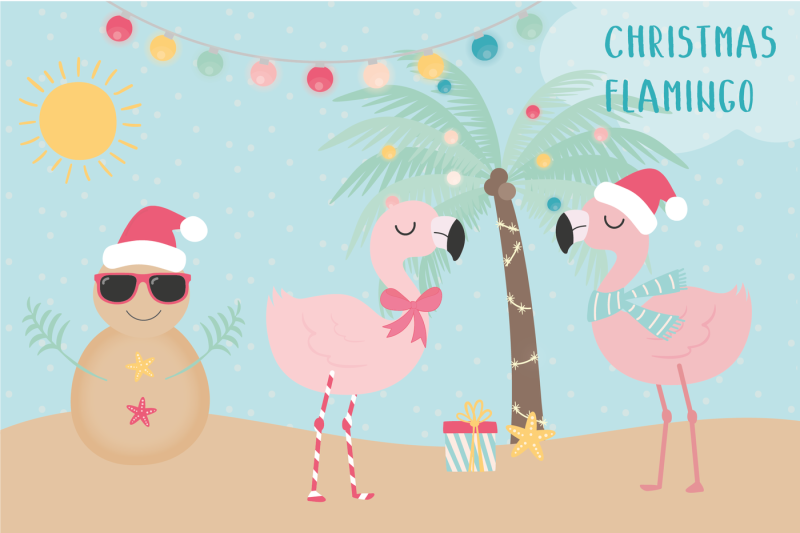 Free Christmas Flamingo clipart Crafter File.