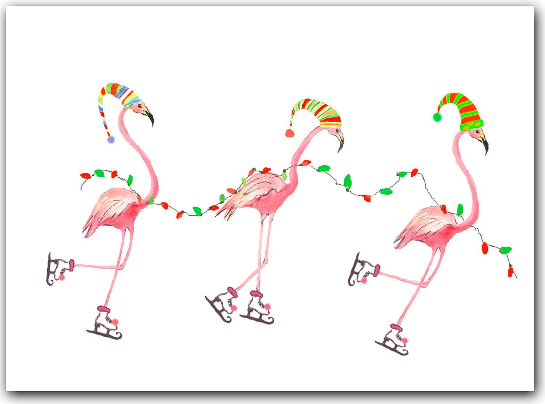 1144 Flamingo free clipart.