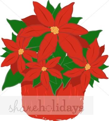 Christmas Flower Clipart.