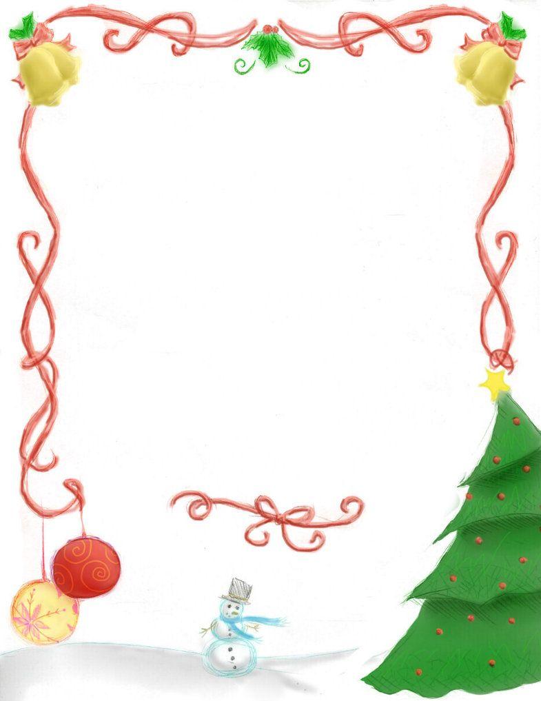 Free Christmas Page Borders.
