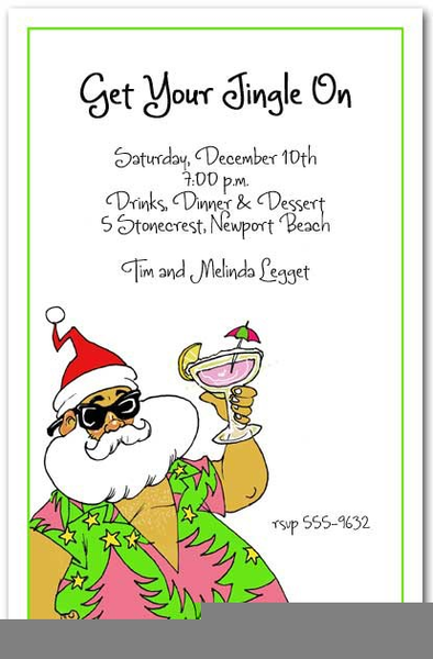 Christmas Party Flyer Clipart.