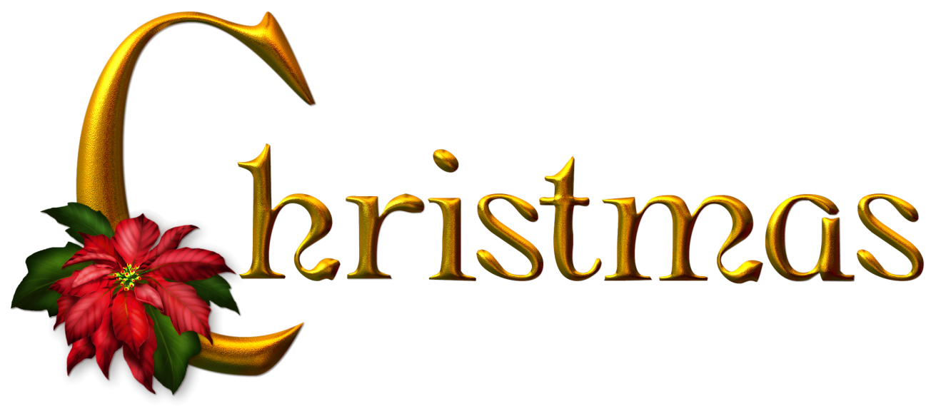 Golden Christmas PNG Clipart.