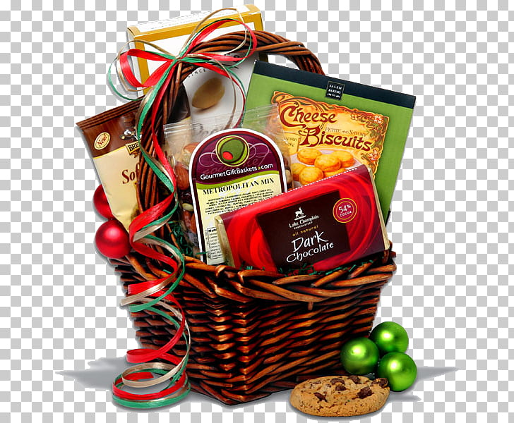 Food Gift Baskets Christmas gift Shopping, gift PNG clipart.