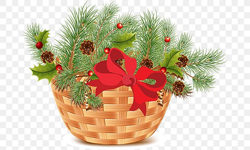 Christmas Food Gift Baskets Clip Art, PNG, 675x492px.