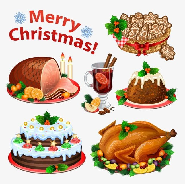 Christmas Food Illustration PNG, Clipart, Cartoon, Christmas.