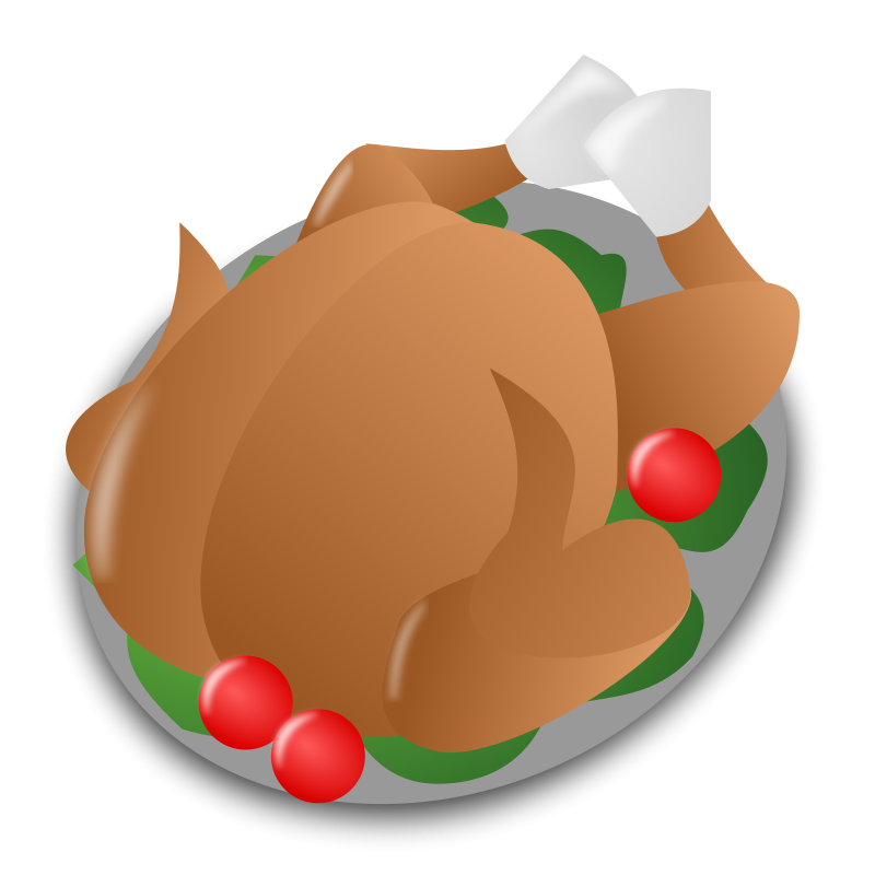 Christmas Dinner Clipart.