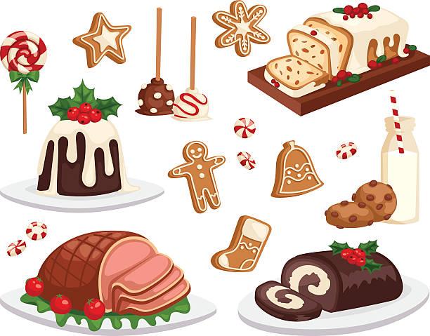 Best Christmas Dinner Illustrations, Royalty.