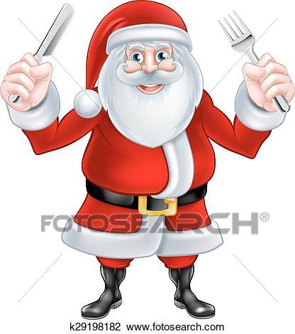 Santa Christmas Food Clipart.