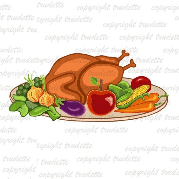 Food Clipart, Food Clip Art, Christmas Clipart, Thanksgiving Clip.