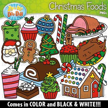 Christmas Foods Clipart Set {Zip.