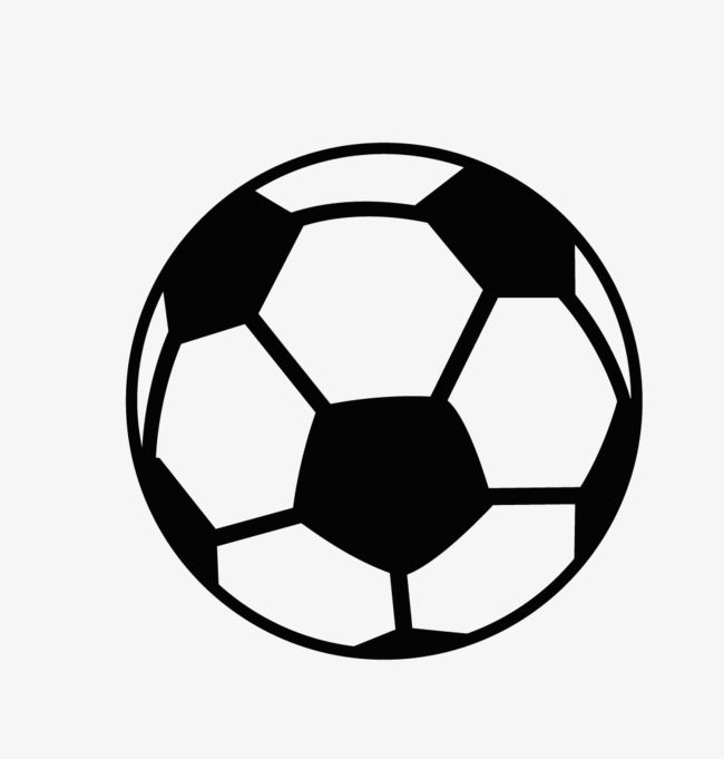 Cartoon Black And White Football Logo, Football Clipart.