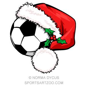 Soccer Santa Cap.