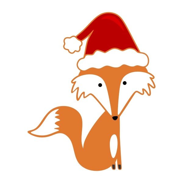 Fox Christmas Cuttable Design.