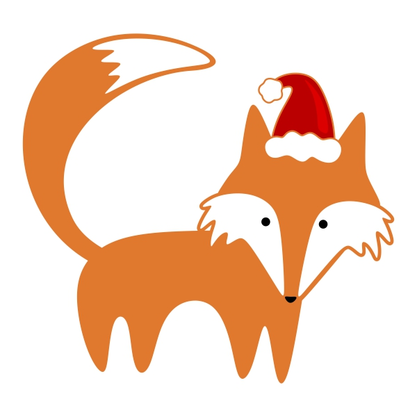 Christmas Fox Clipart.