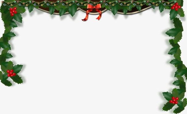Christmas Frame Border PNG, Clipart, Background, Border Clipart, Bow.