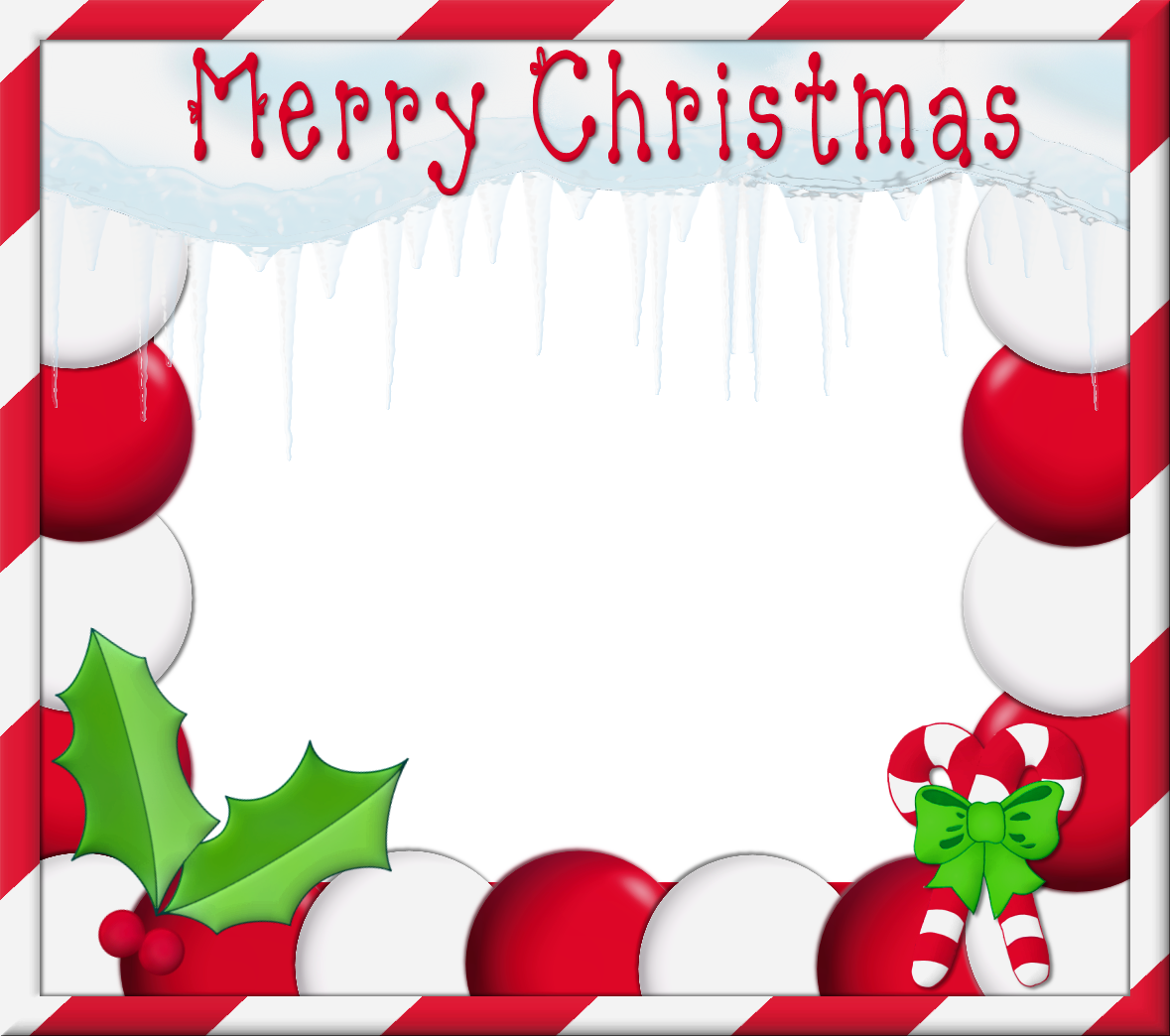 Merry Christmas PNG Photo Frame.