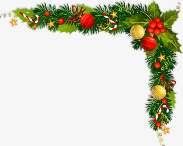 Cartoon Christmas Frame Decoration, Cartoon Clipart, Frame Clipart.