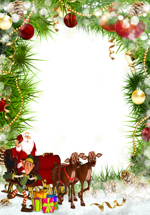 Free CHRISTMAS Frames Png Images With Transparent Background.