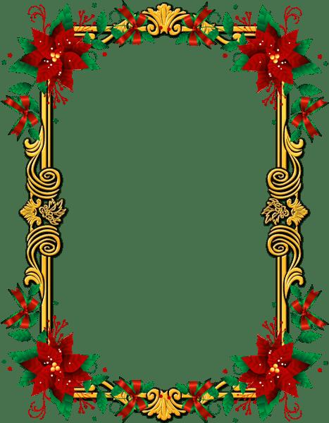 Ornate Christmas Frame transparent PNG.