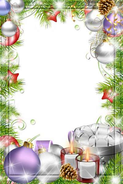 Free Holiday Frame png, photo frame psd Merry Christmas 2.