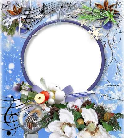 Free Christmas frame png photo frame psd template photoshop.