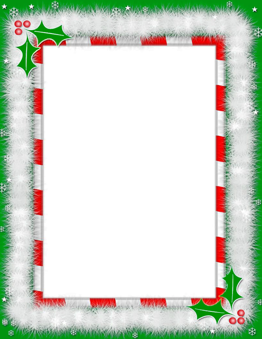 78+ Christmas Frame Clipart.