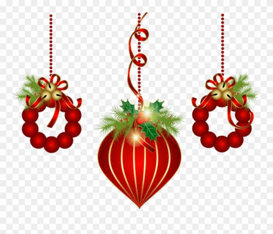 Free Png Transparent Red Christmas Ornaments Png.