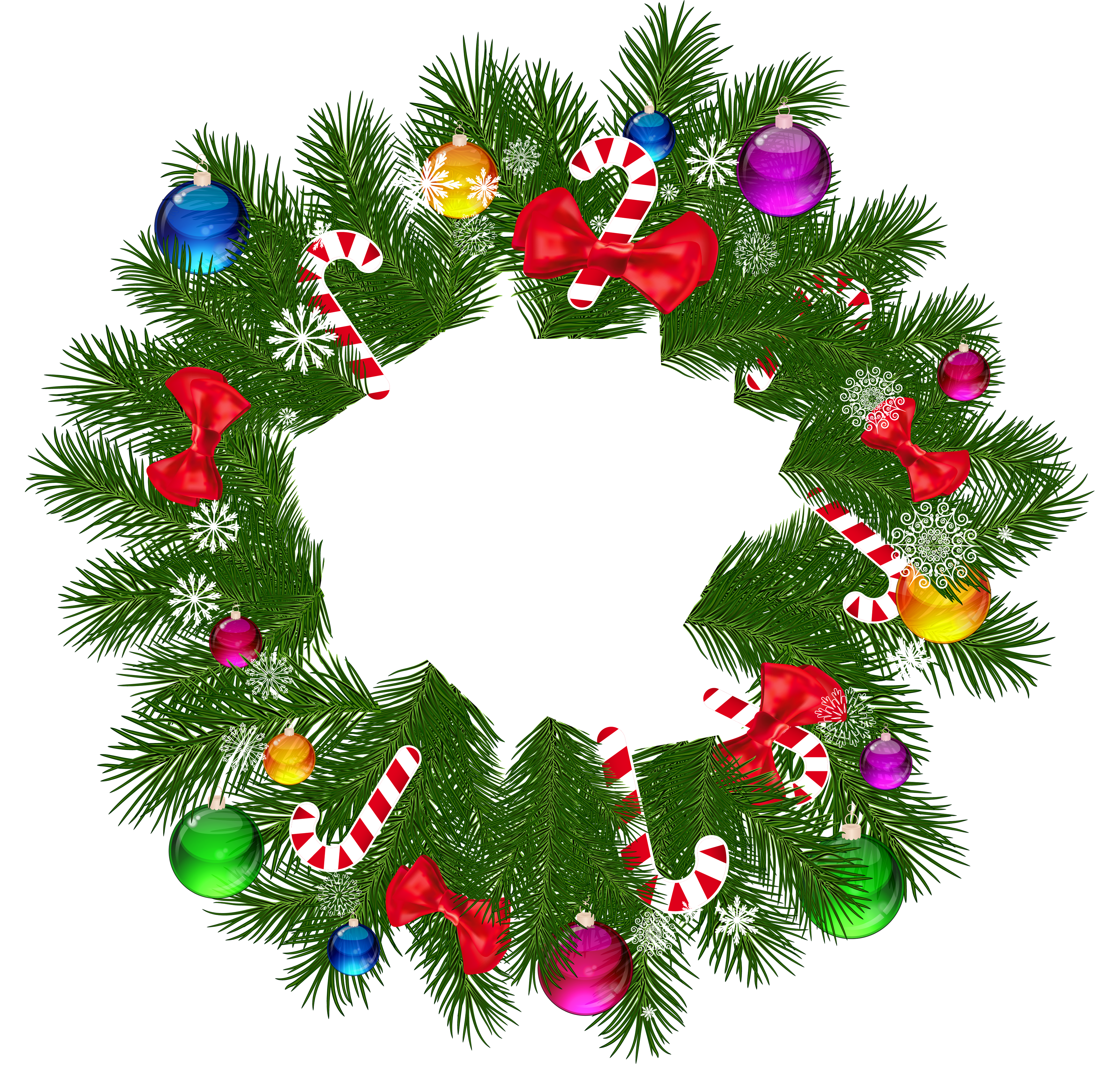 Free PNG HD Christmas Wreath Transparent HD Christmas Wreath.PNG.