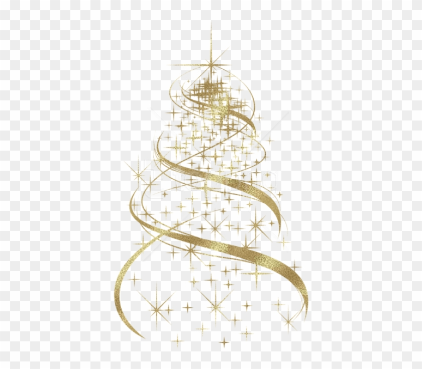 Free Png Transparent Golden Christmas Tree Decoration.