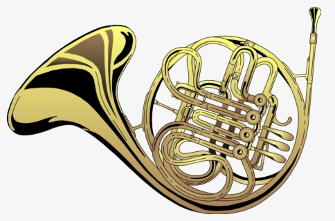 Free French Horn Clip Art with No Background.