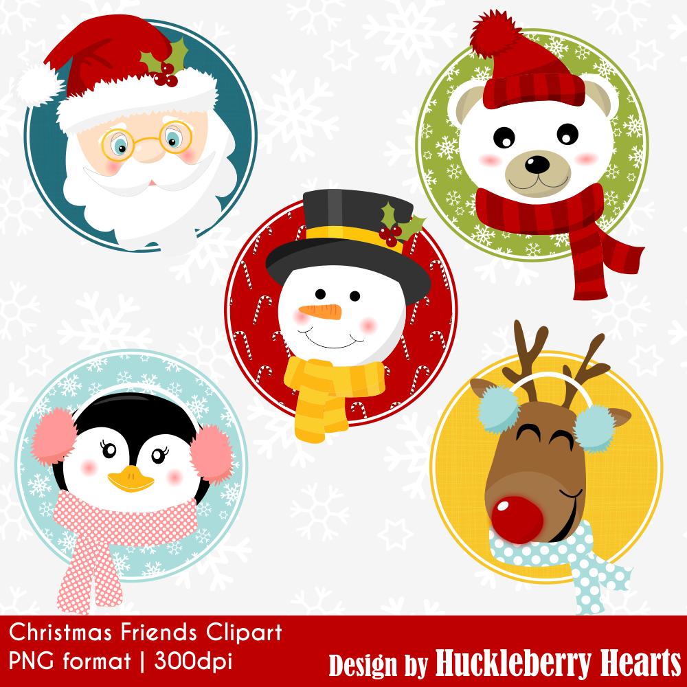 Christmas Friends Clipart.