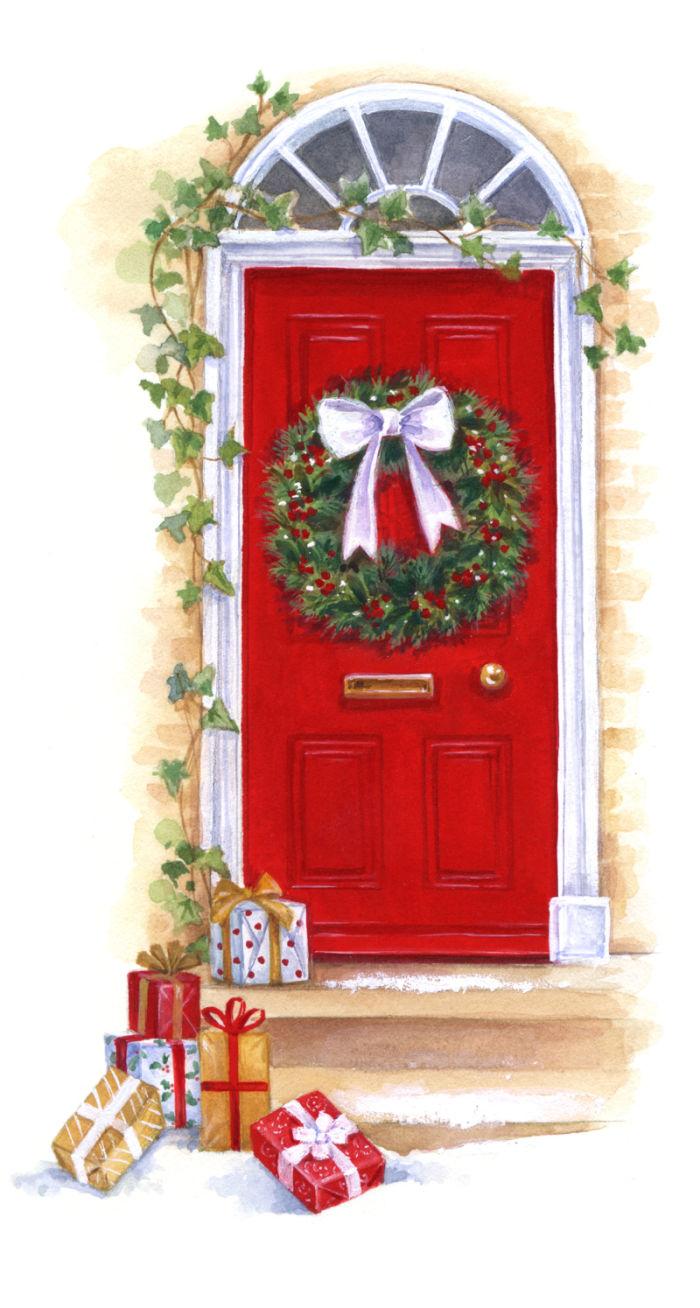 Showing post & media for Cartoon christmas front door.
