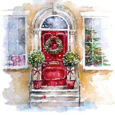 Christmas Front Door Clipart.