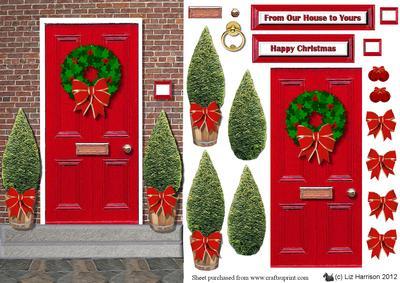 Christmas Front Door Clipart Free.