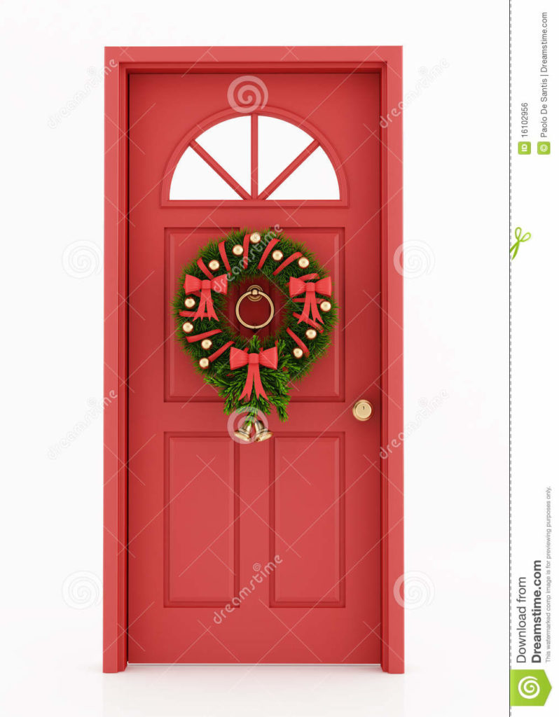 Christmas Front Door Clipart Free Clipground