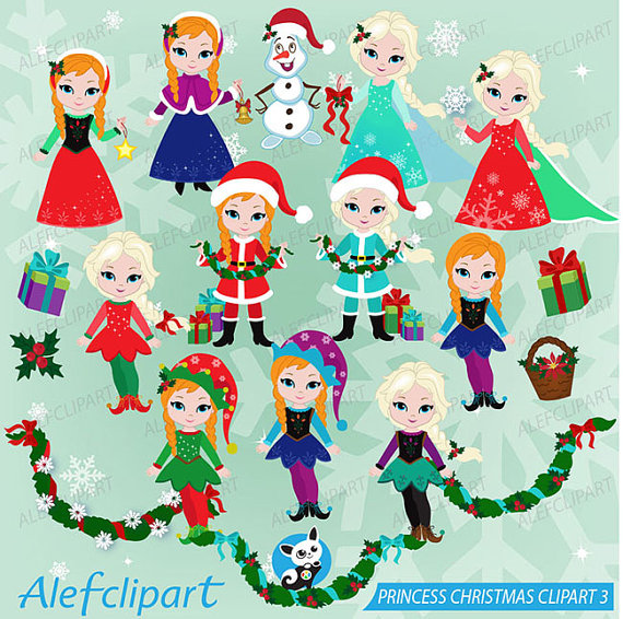 50% OFF SALE Winter Digital Clipart Frozen Christmas clipart.