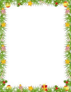 Christmas Garland Border.