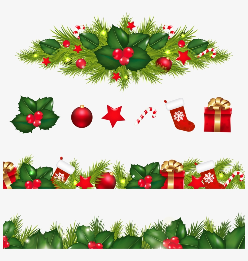 Decoration Border Christmas Garland Free Png Hq Clipart.