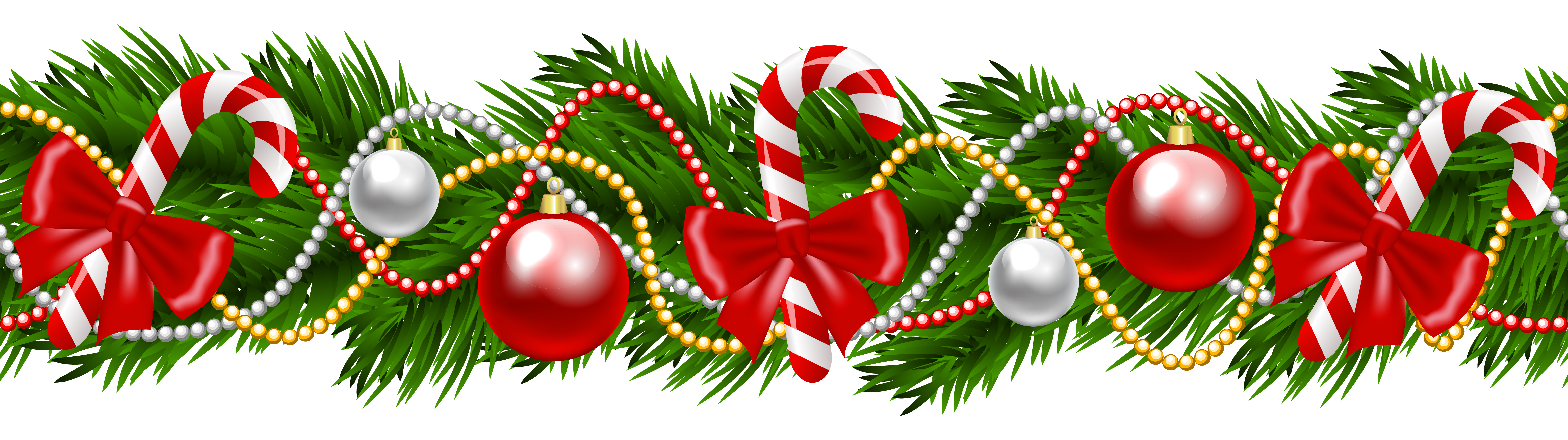 Free Christmas Garland Border Transparent Png, Download Free.