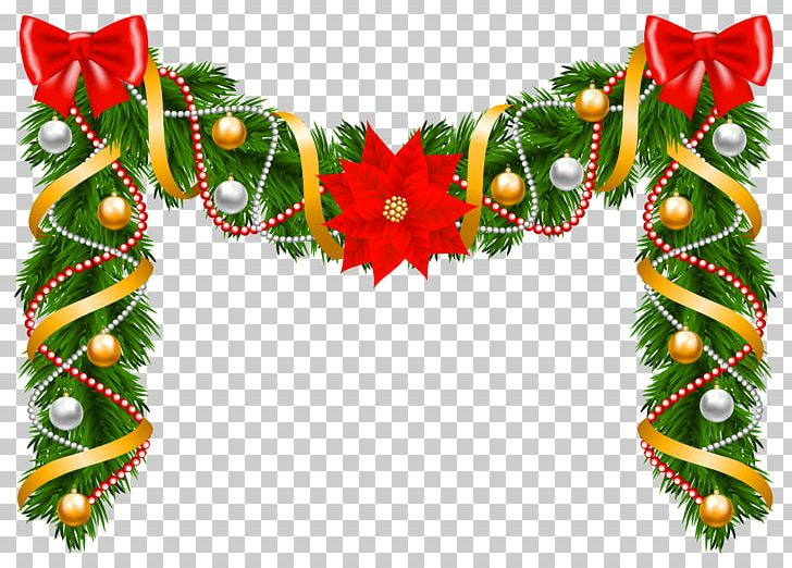 Christmas Garland Wreath Poinsettia PNG, Clipart, Christmas.