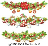 Christmas Garland Clip Art.