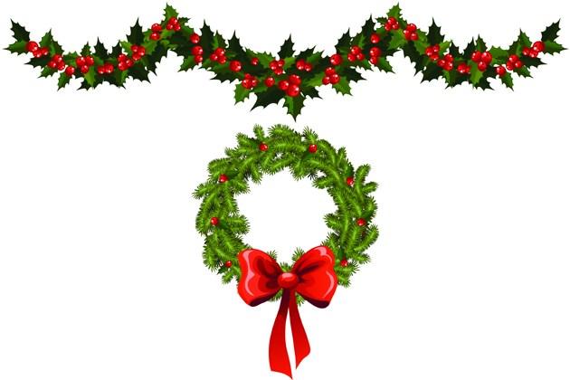 Christmas garland clipart free 3 » Clipart Portal.