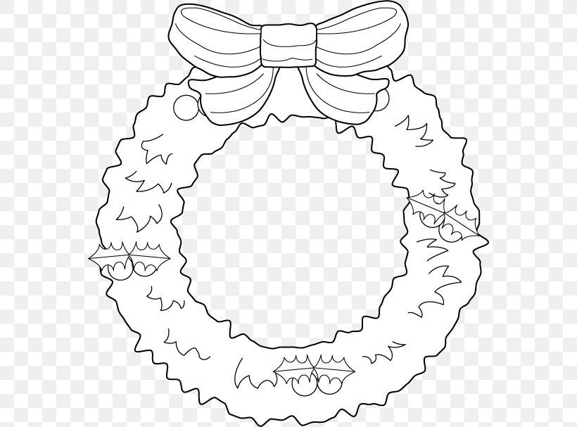Christmas Wreath Garland Clip Art, PNG, 570x607px, Christmas.