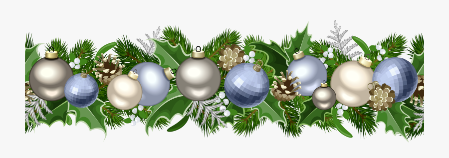 Christmas Deco Garland Png Picture.