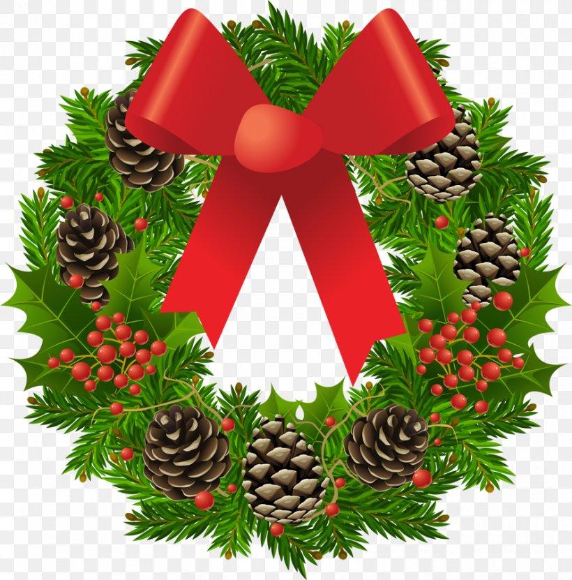 Christmas Wreath Garland Clip Art, PNG, 888x900px, Christmas.