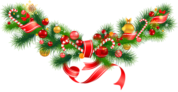 Transparent_Christmas_Pine_Garland_with_Ornaments_Clipart.