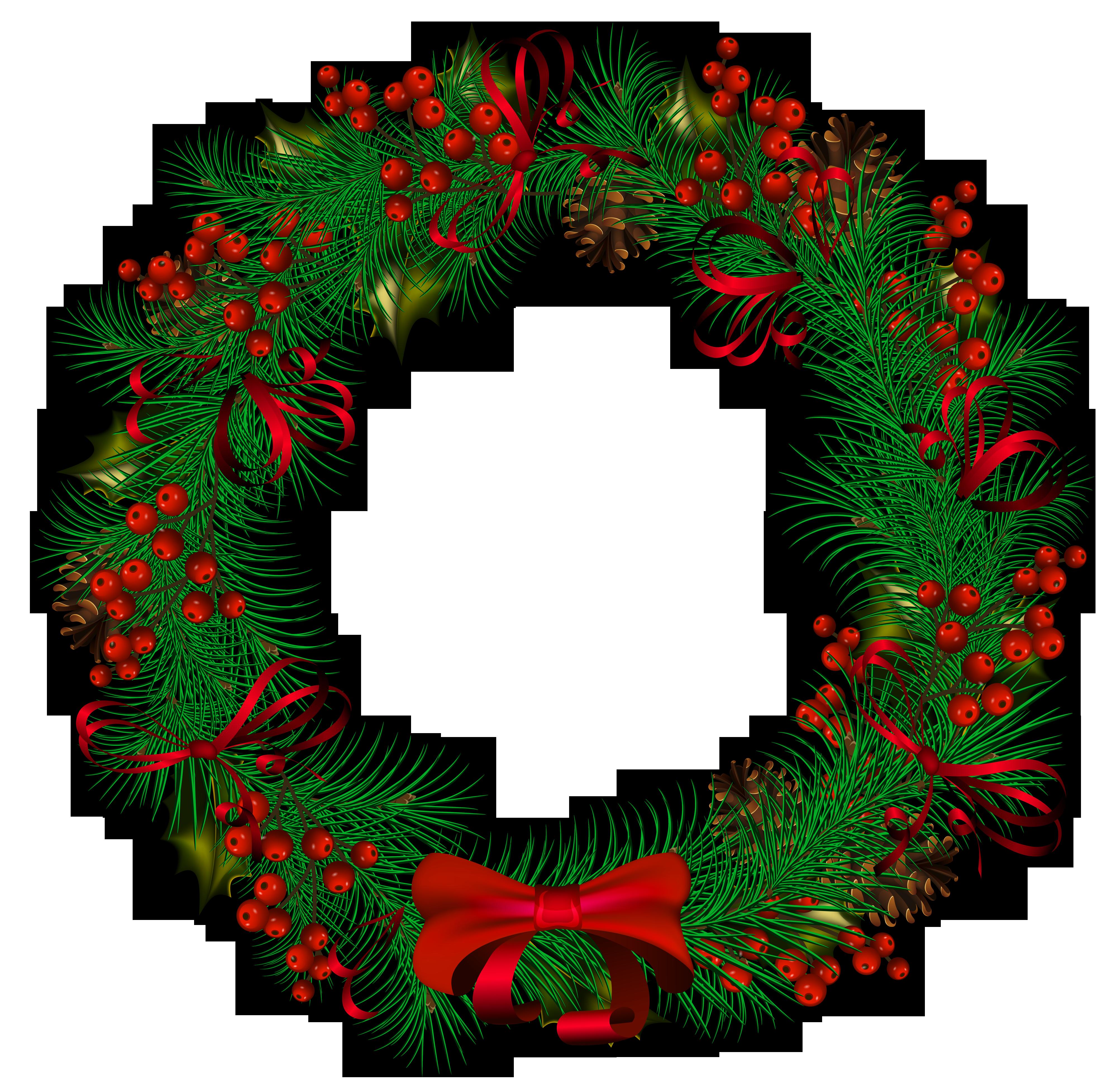 Wreath clipart transparent background.