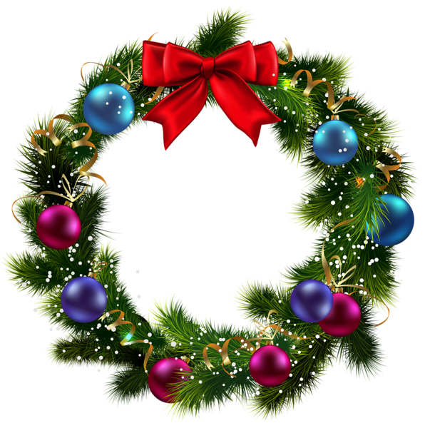 Christmas garland clipart transparent background.
