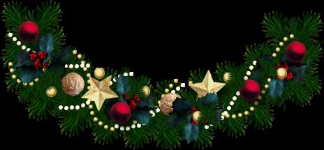 Christmas Garland Clipart Transparent Background.