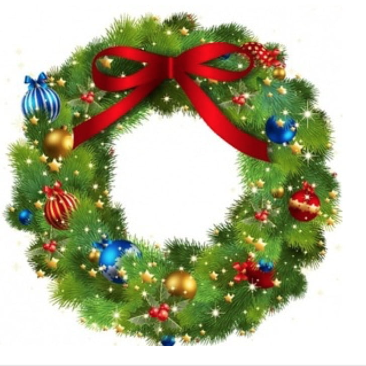 Wreath Christmas Garland , wreath PNG clipart.